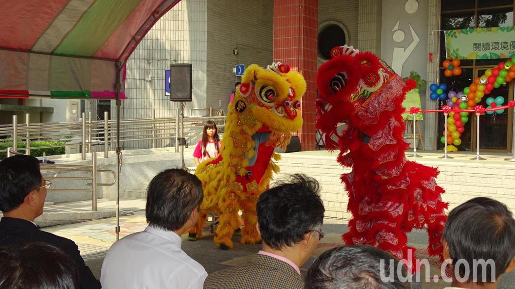 安定國中舞獅表演。記者謝進盛/攝影
