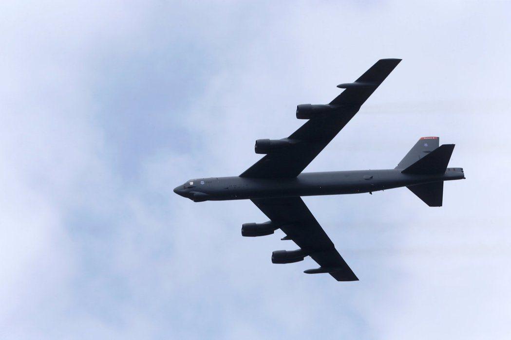 美國B-52轟炸機資料照片。路透