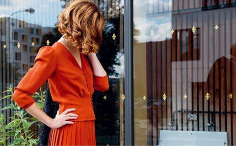 agnès b.秋冬Anne Blanchard法式小衣櫥系列蓬袖線條打造端莊成...