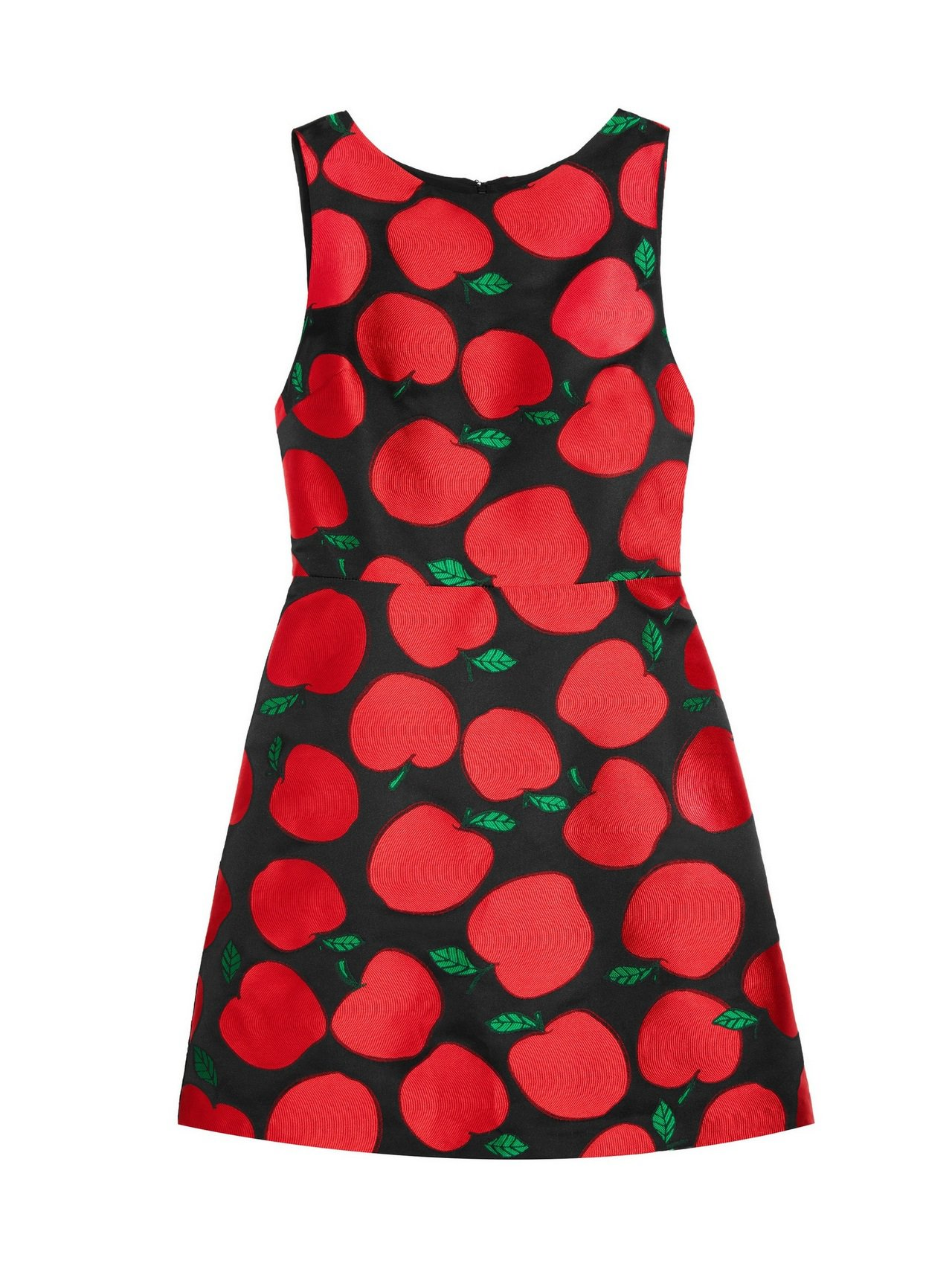 蘋果印花短洋裝,14900元。圖/alice+olivia提供