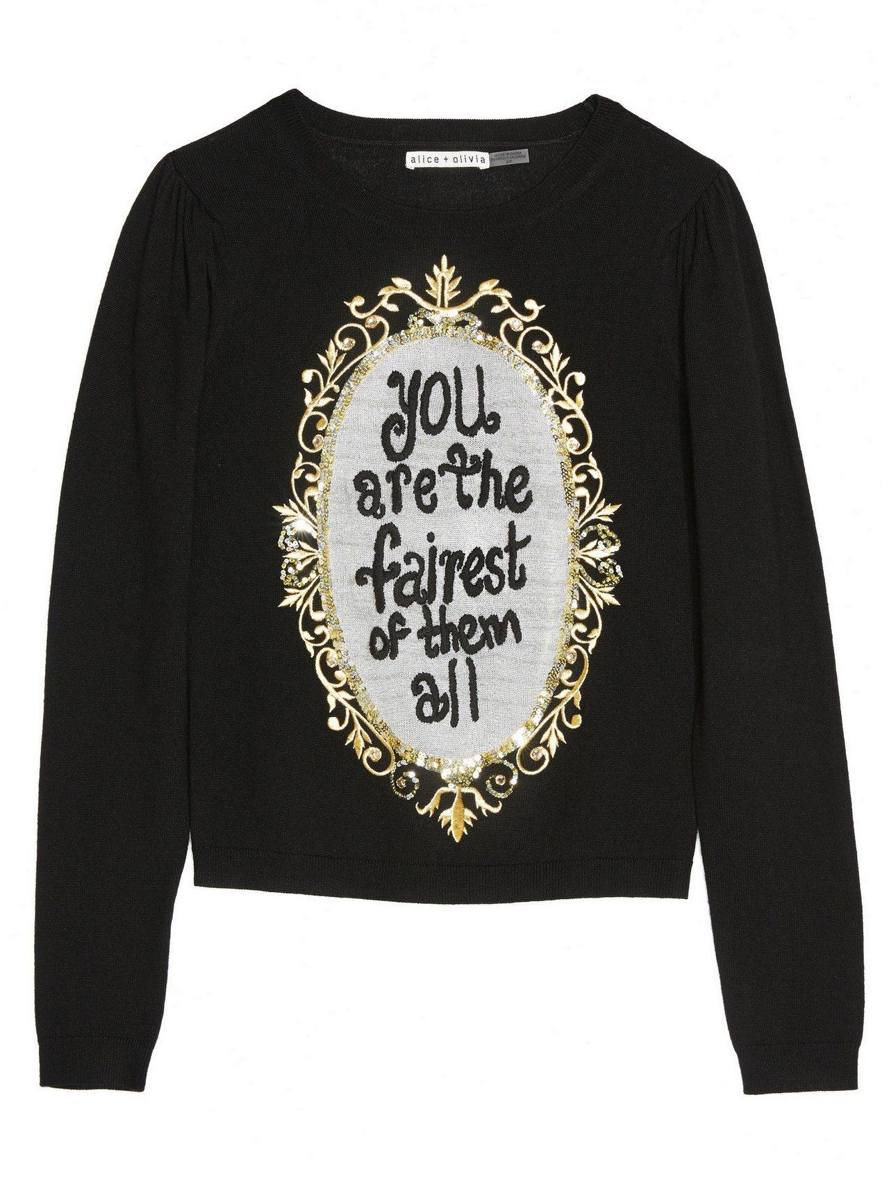 魔境圖案刺繡毛衣,17,500元。圖/alice+olivia提供