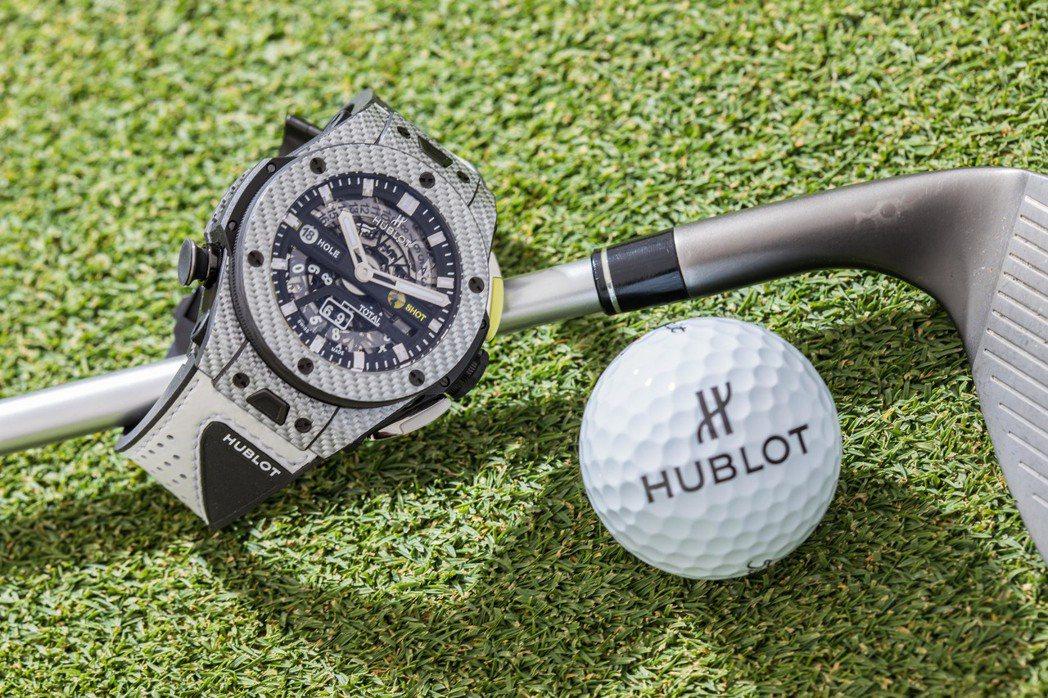 全球首創的記錄功能展現出宇舶Big Bang Unico Golf高爾夫球計時碼...