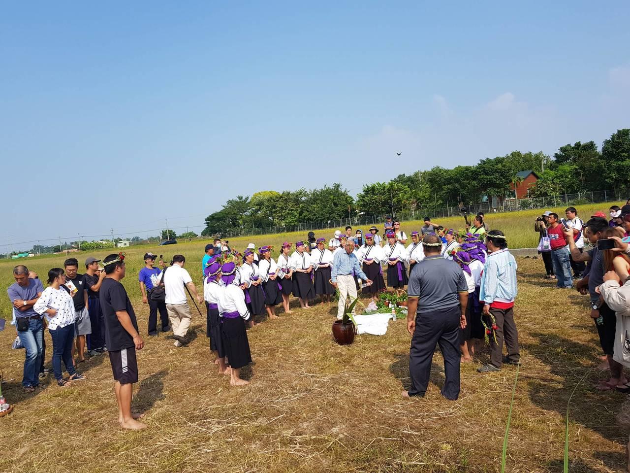 吉貝耍西拉雅族人舉行孝海儀式。記者吳政修/攝影