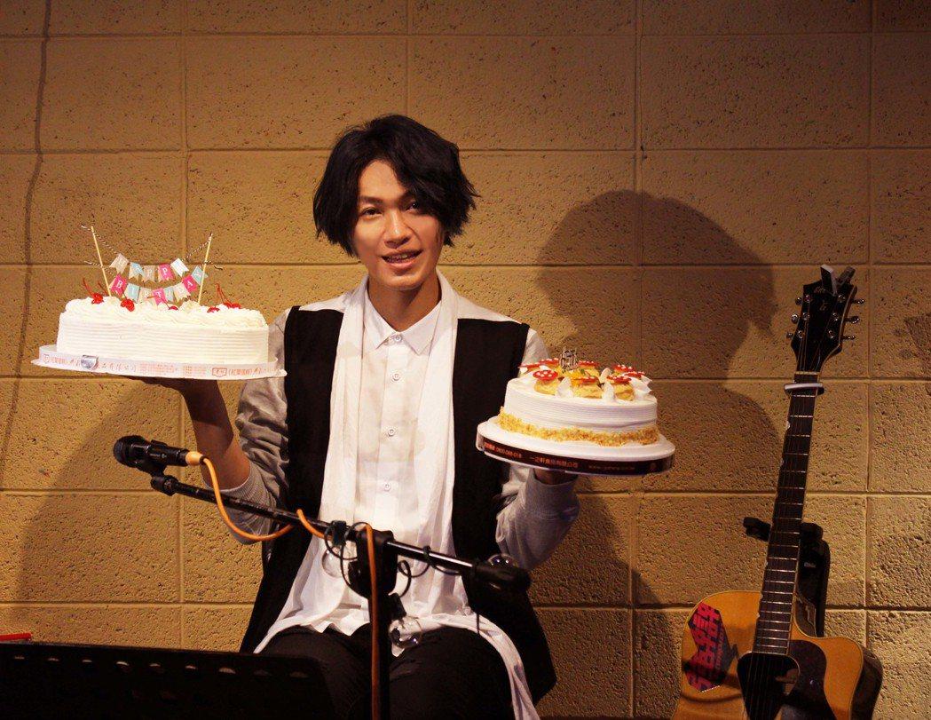 黃少谷舉辦生日會與粉絲歡度36歲生日。圖/喜歡音樂提供