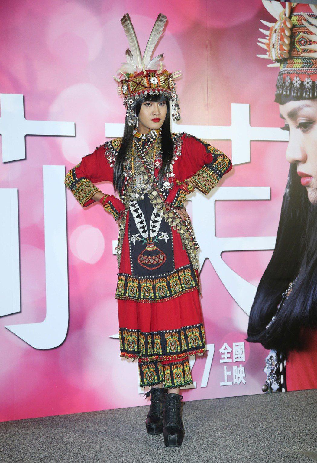 舞炯恩出席電影「阿莉芙」首映會。記者陳瑞源/攝影