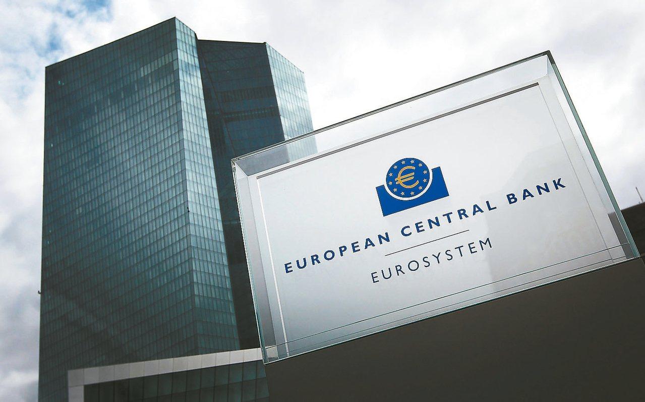 分析師預料,歐洲央行將於廿六日宣布大幅減少對歐元區經濟的支持。圖為歐洲央行位於德...