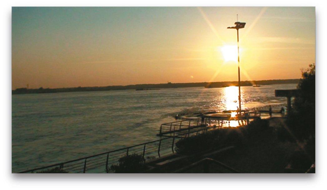 蕪湖的長江夕陽。 記者童一寧/攝影