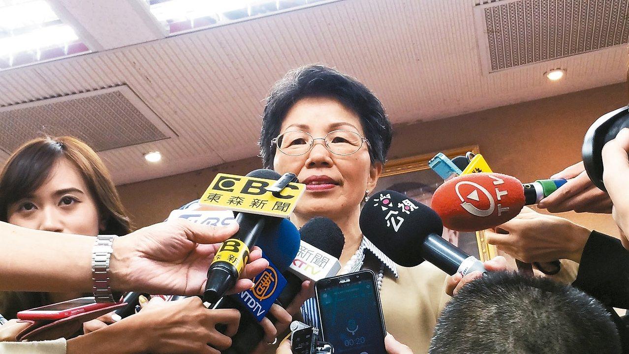 陸委會主委張小月今天赴立法院內政委員會進行業務報告。 記者許依晨/攝影