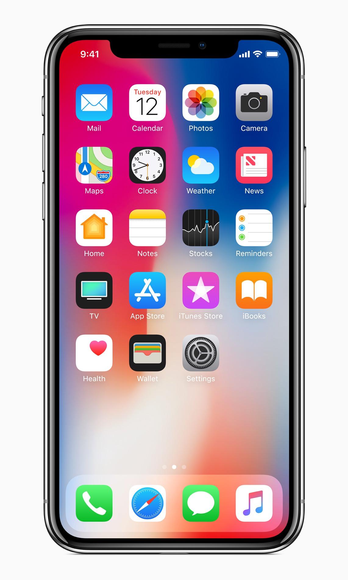 Apple蘋果10周年紀念機種iPhone X。圖/蘋果提供