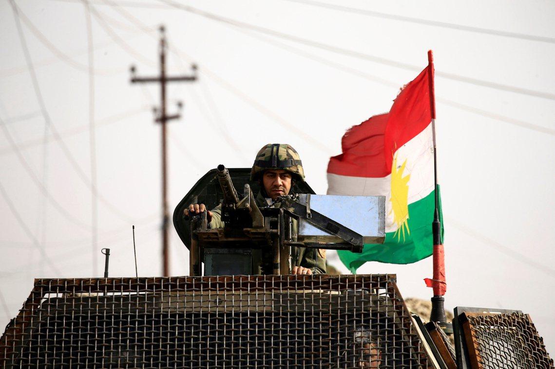 資料圖片:庫德政府呼籲,在凍結結果後,庫德敢死軍(Peshmerga)也希望與伊...