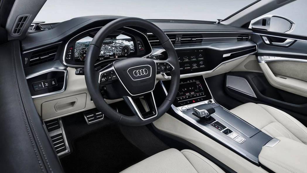 Audi A7 Sportback 內裝。 摘自Audi