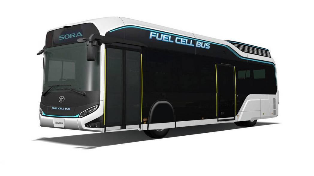 TOYOTA Sora概念巴士預計明年開始量產,希望在東京奧運前能提供100輛在...