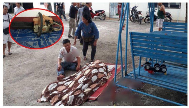 泰國日前發生一件婦人協助老公鋸樹後清理殘枝,卻不小心跌倒,被老公手中電鋸鋸到脖子...
