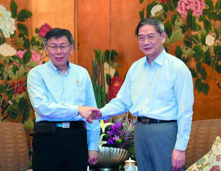 核心高層認為綠色縣市首長可複製「柯P模式」與中國來往。 台北市政府提供