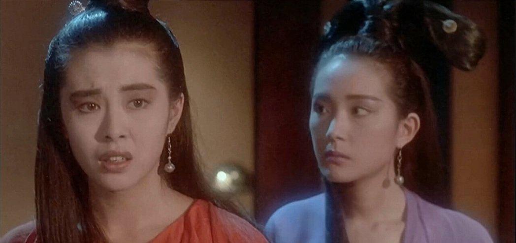 薛芷倫與王祖賢在「倩女幽魂」有對手戲。圖/摘自時光網