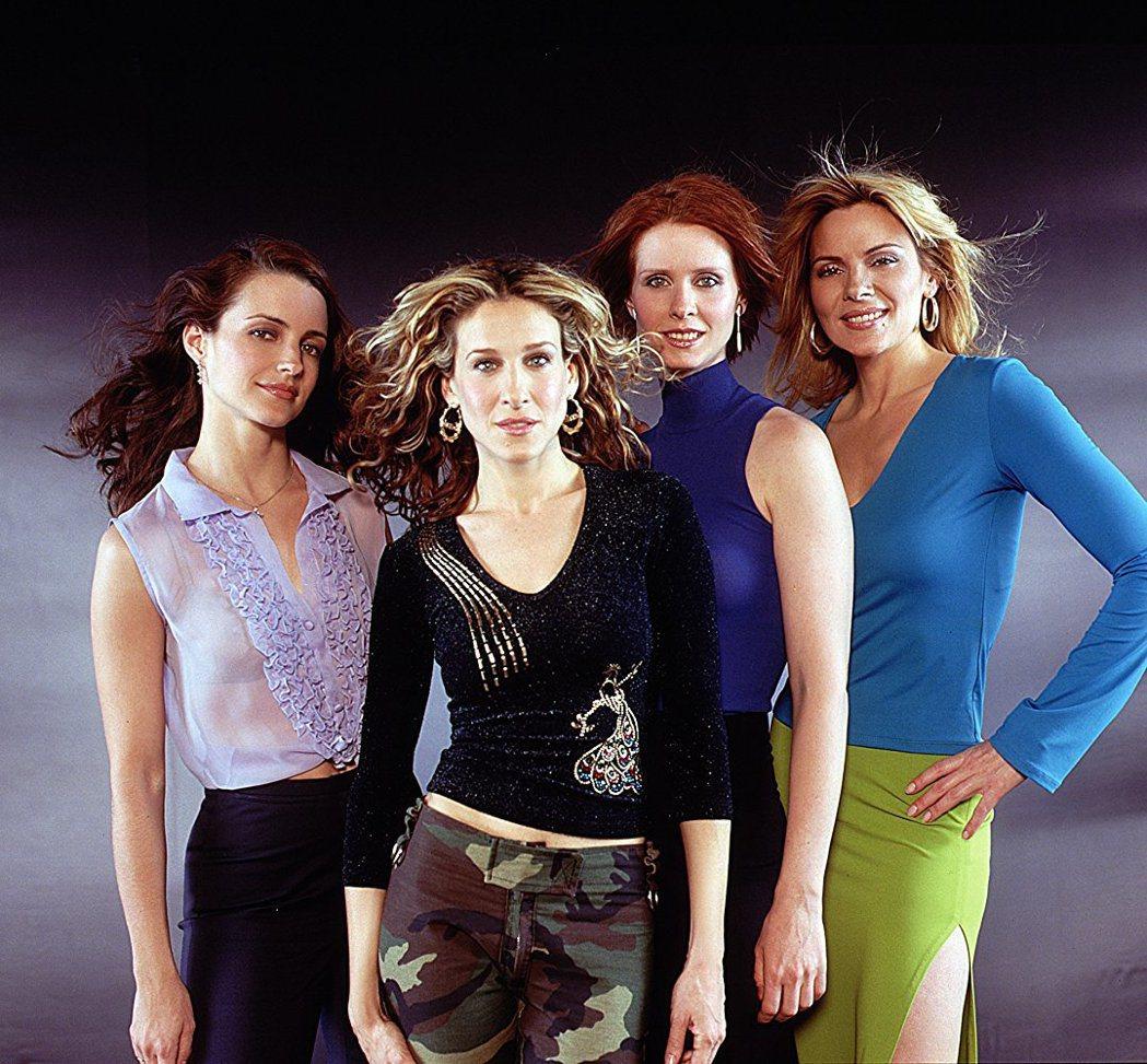 「慾望城市」女主角們戲裡姊妹情深,戲外並無交情,還交惡。圖/摘自imdb