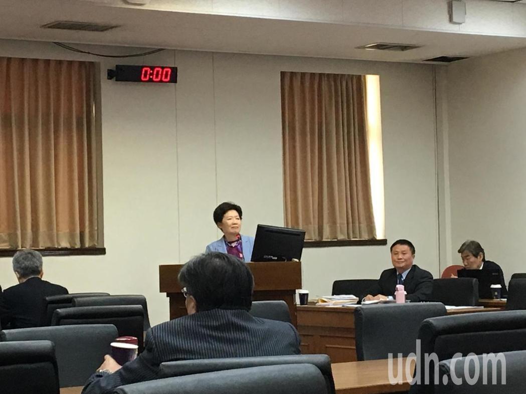 公平會主委黃美瑛今天在立法院接受質詢。記者高詩琴/攝影