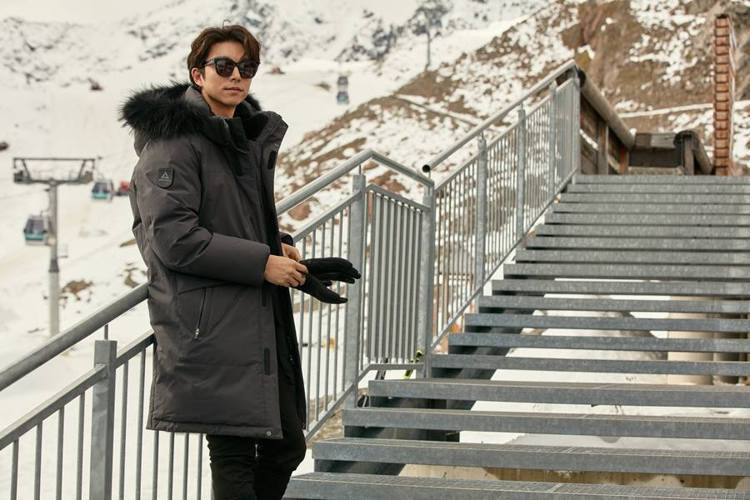 孔劉再度為韓國的Discovery Expedition拍攝秋冬形象照。圖/摘自...