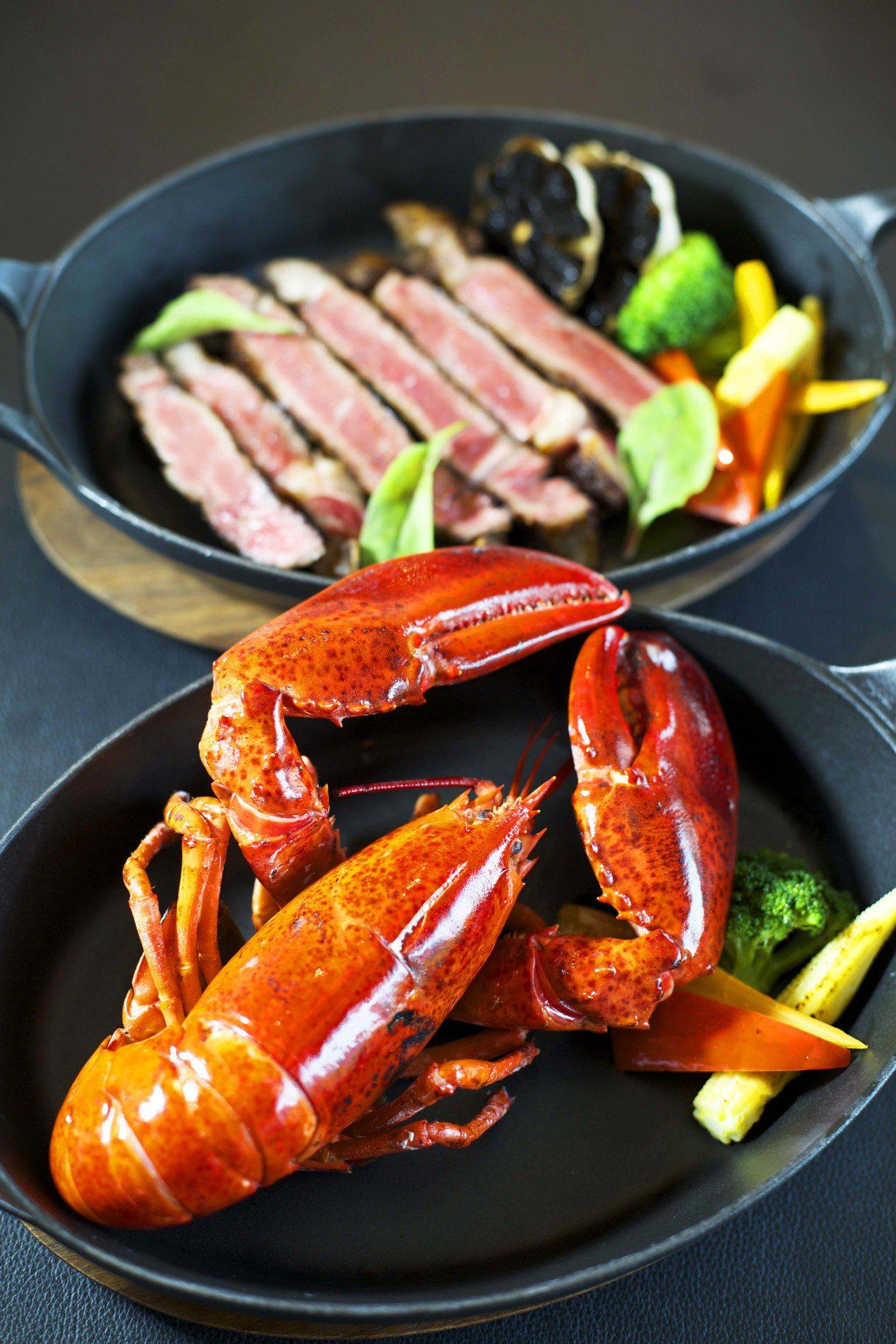 誠品行旅頂級牛排龍蝦海陸大餐。圖/誠品行旅提供
