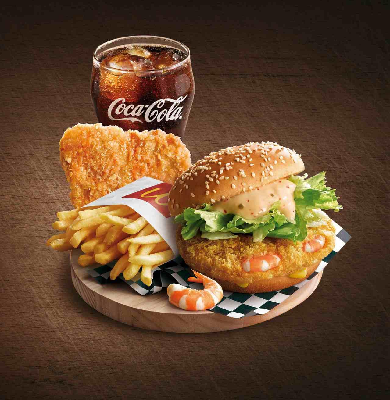 「千島黃金蝦堡」單點73元、經典套餐119元、豪麥套餐152元。圖/麥當勞提供