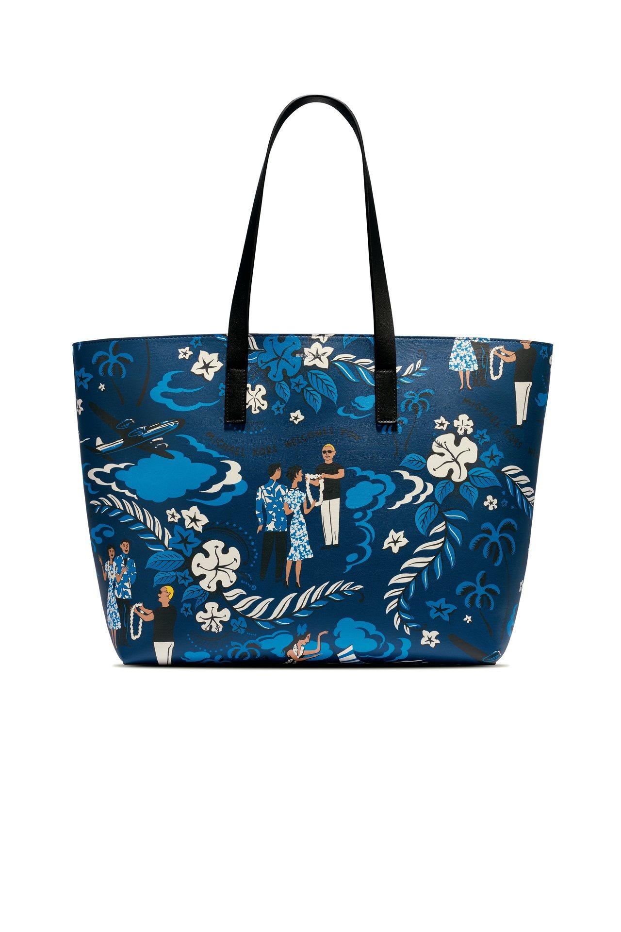 托特包型是2018早春度假系列的主要包款樣式。圖/MICHAEL KORS提供