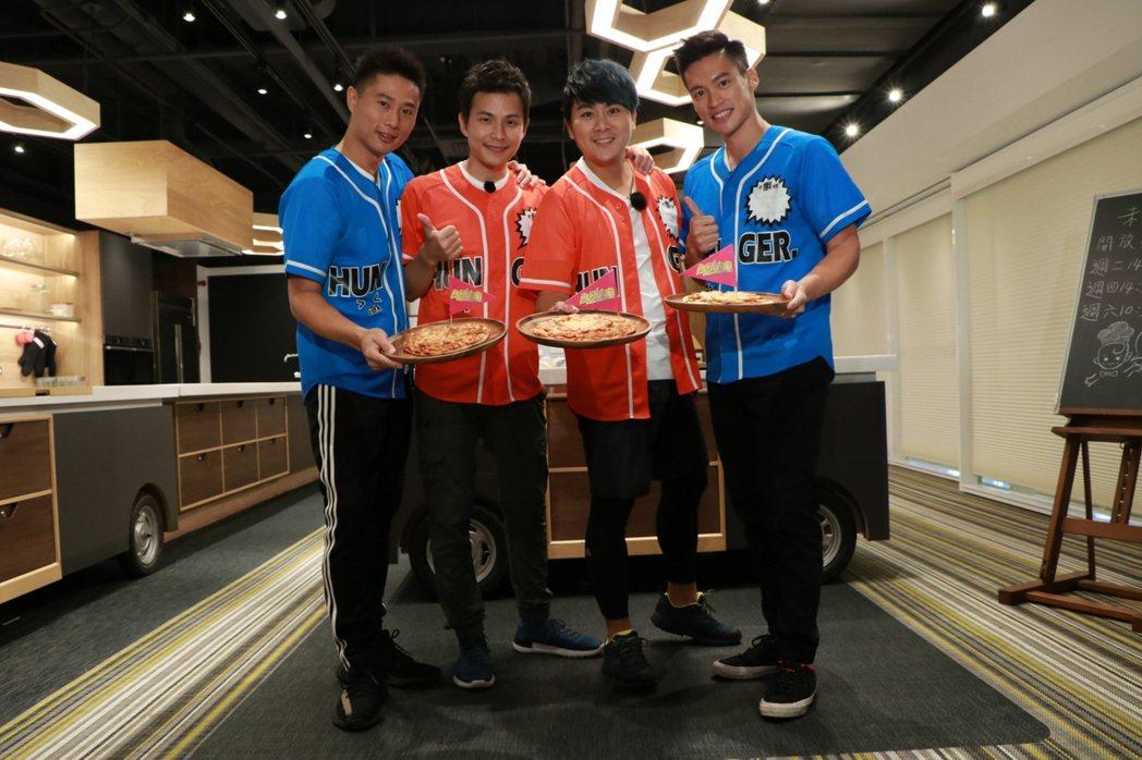 小刀(左)力挺5566昔日成員,現身錄「飢餓遊戲」。圖/中視提供