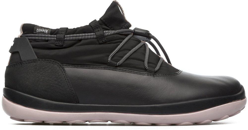 Camper Peu Pista系列黑色粉底GORE-TEX伸縮鞋帶靴,約8,2...