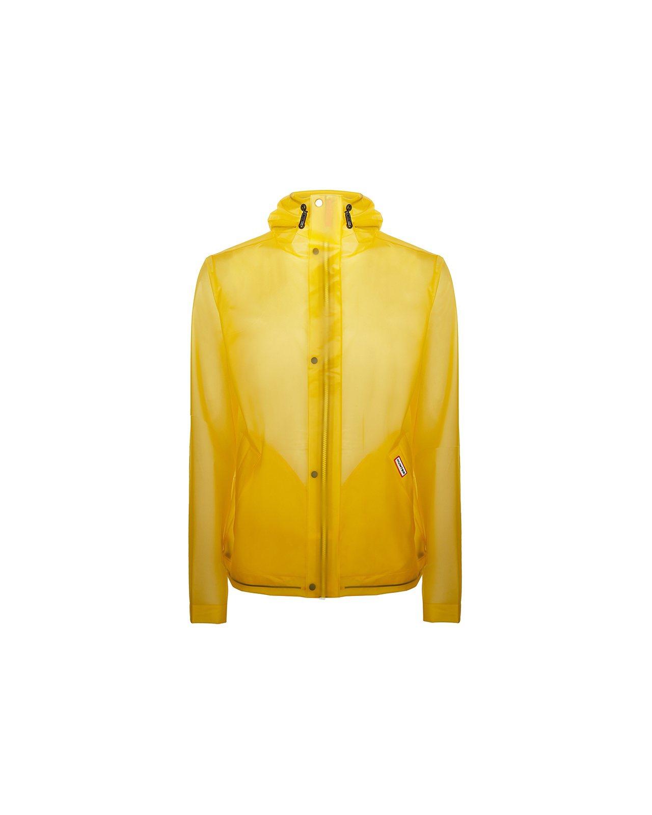 男性經典亮黃輕透防風防雨外套,約7,800元。圖/Hunter提供