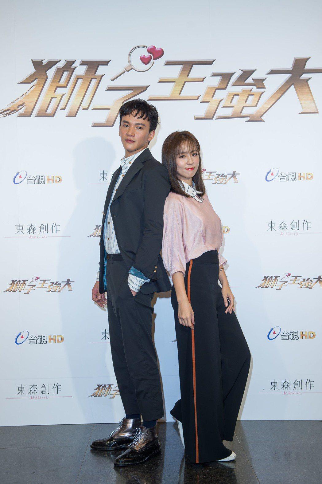 曹晏豪(左)、周曉涵合作「獅子王強大」。圖/東森提供