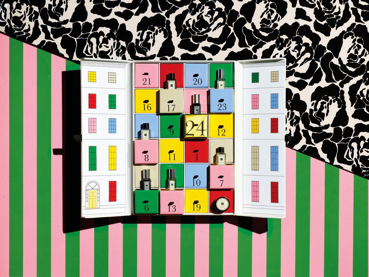 Jo Malone耶誕節倒數月曆,售價16,000元,全台限量100組。圖/Jo...