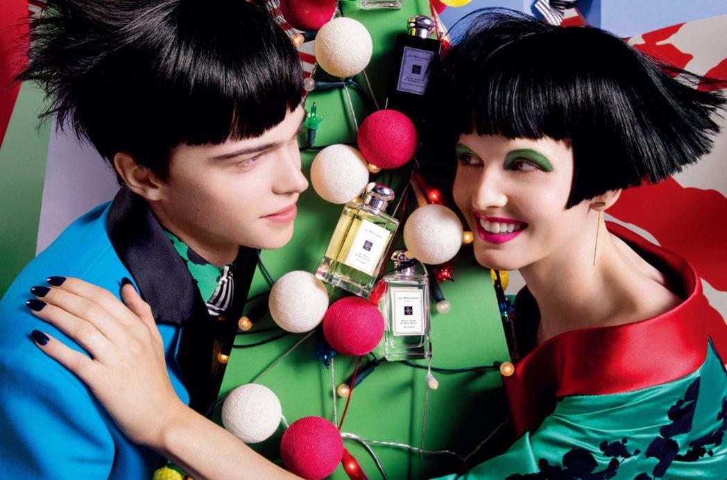 Jo Malone繽紛耶誕狂想系列讓嗅覺、視覺都能享受到季節限定的溫暖華麗。圖/...