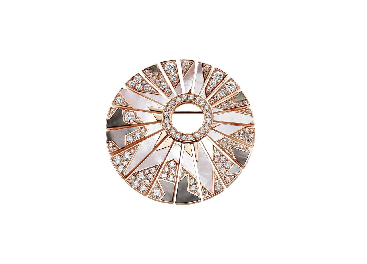 New York Capsule系列珠寶,珍珠母貝與鑽石胸針_(354416)。...