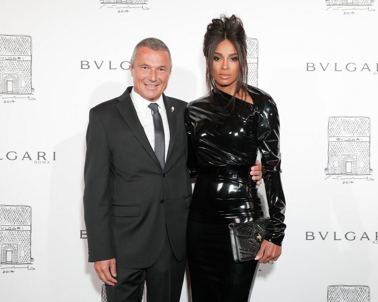 寶格麗全球總裁Jean Christophe_Babin與美國知名女歌手Ciar...