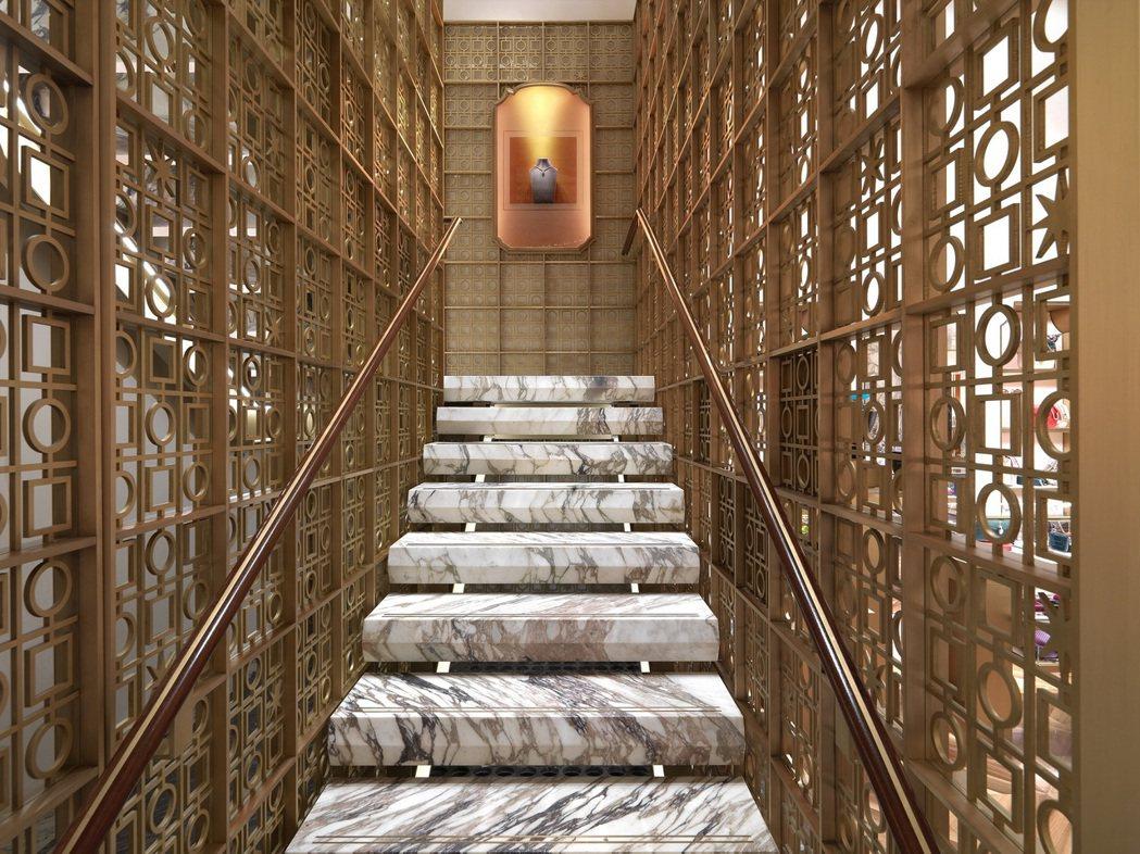 寶格麗紐約第五大道旗艦店,為了呼應寶格麗悠久的羅馬傳統,特別運用萬神殿的設計元素...