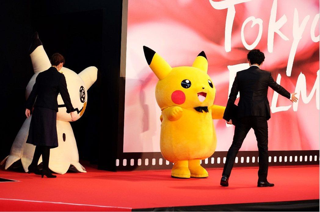 皮卡丘也成為東京影展開幕嘉賓。圖/中央社