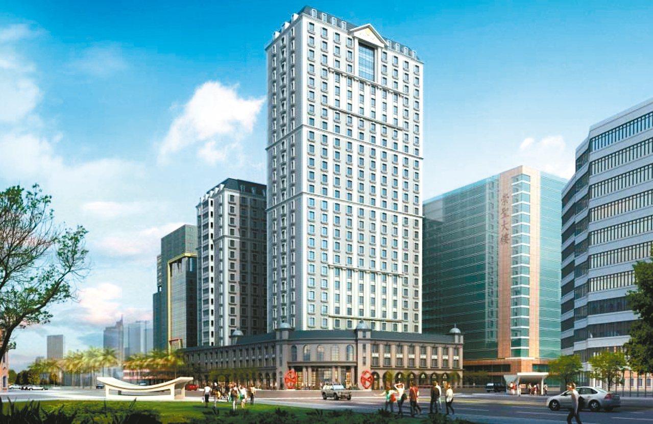 北市議會舊址開發案昨正式啟動,最快111年完工,圖為建物模擬圖。 圖/金毓泰公司...