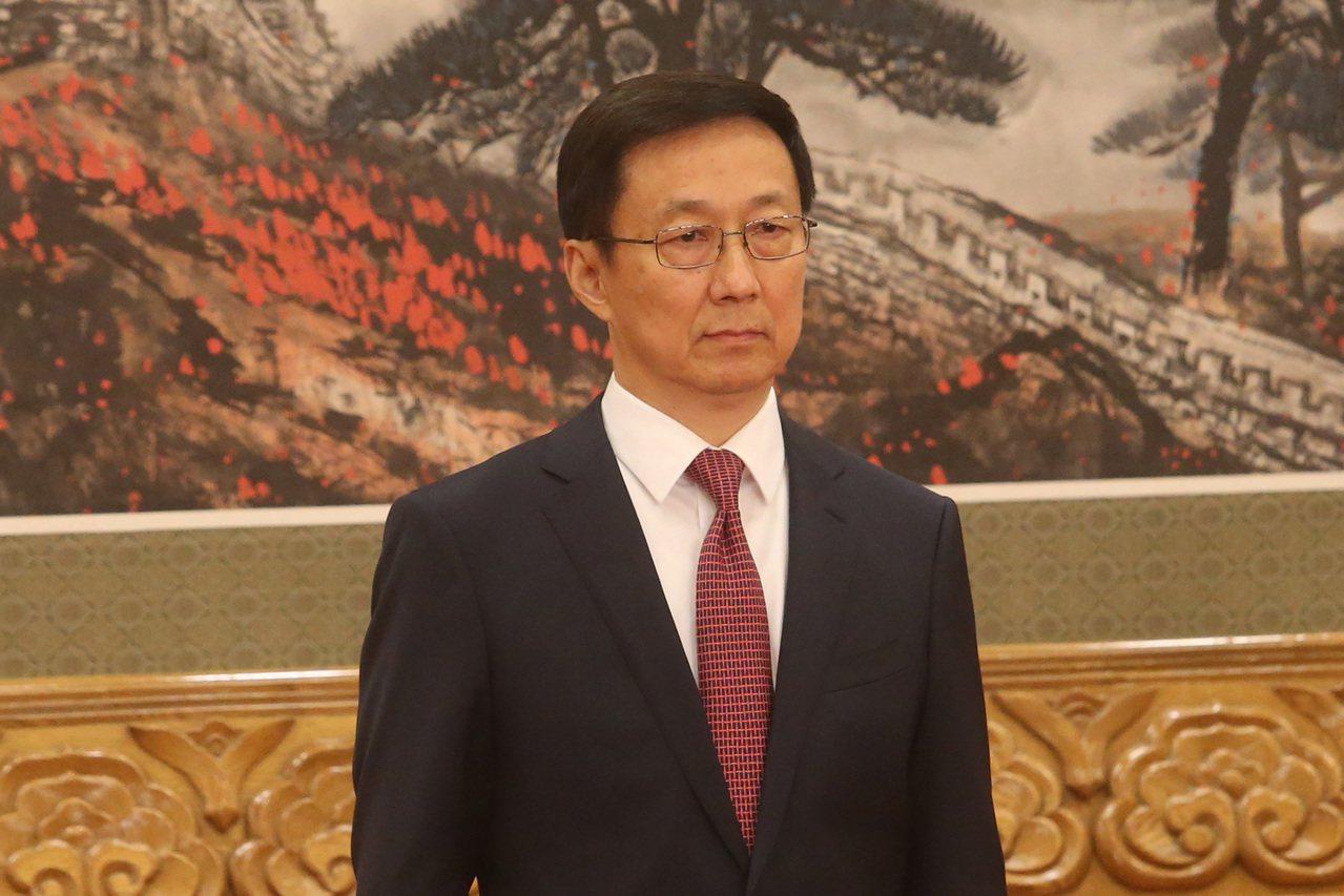 進入中共政治局常委的韓正可能擔任常務副總理。 中央社