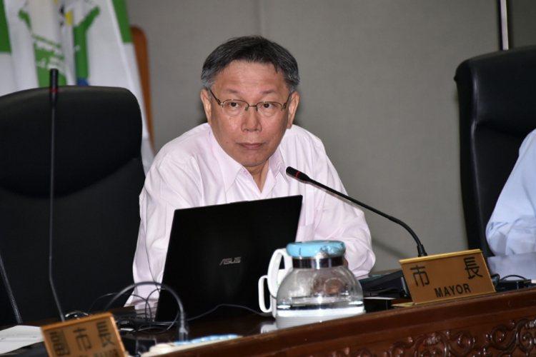不滿北市旅館毒趴事件頻傳,台北市長柯文哲昨主持公安督導會報時強調,再出這種事情,...