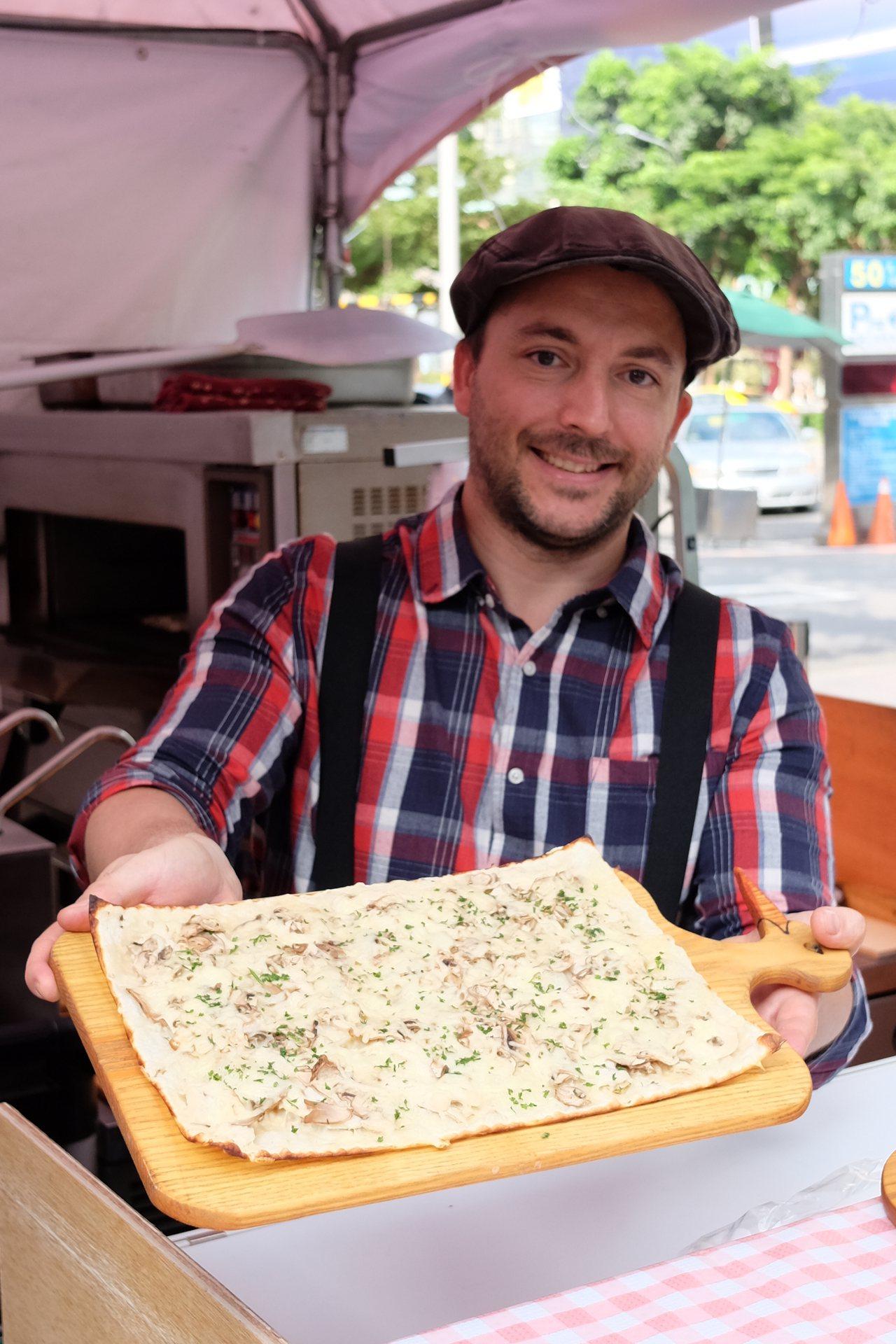 樂芙坊LE FLAM阿爾薩斯經典火焰烤餅。記者黃仕揚/攝影