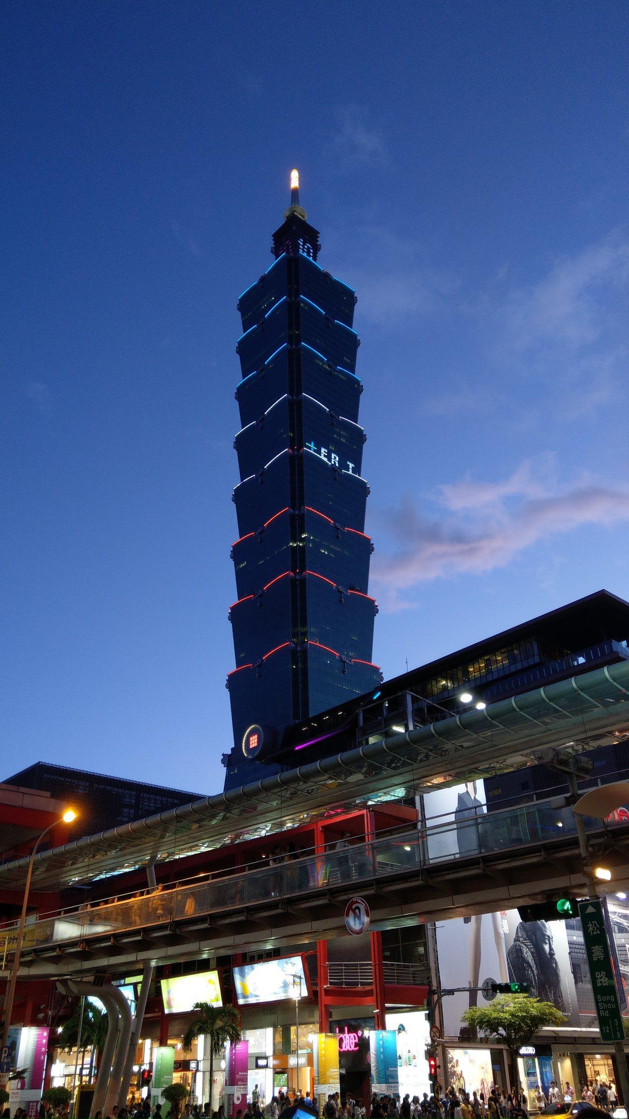 台北101。聯合報系資料照