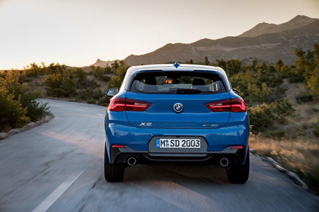 全新BMW X2 車尾。 摘自BMW