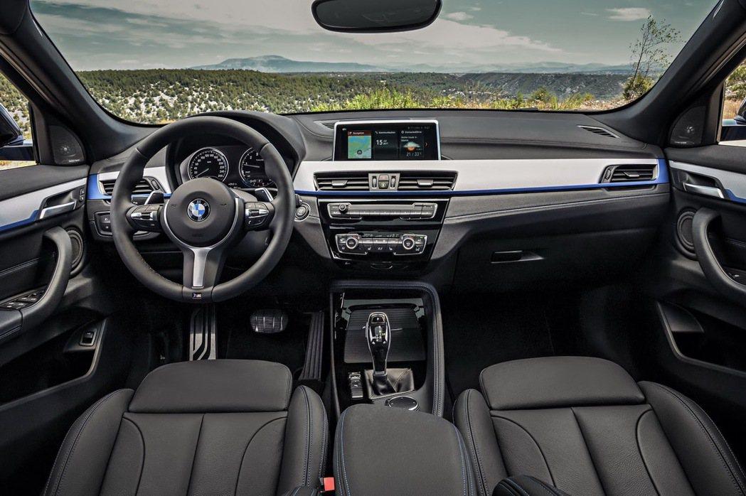 全新BMW X2的座椅依據車型的不同,也提供三種不一樣的材質。 摘自BMW
