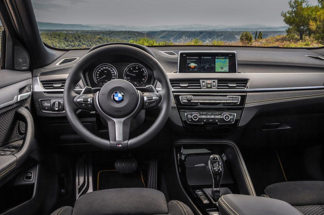 全新BMW X2 內裝佈局。 摘自BMW