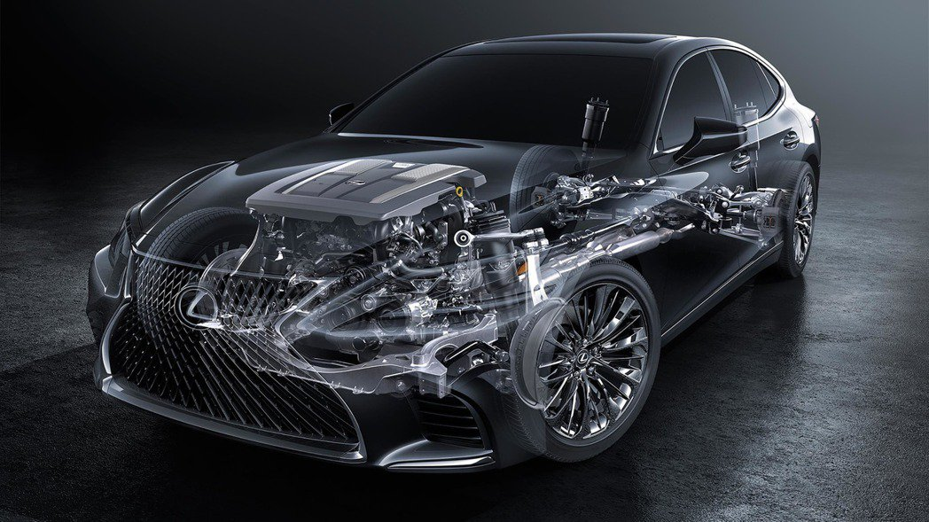 LS 500h搭配Lexus Multi Stage Hybrid多段式變速系統。 圖/LEXUS提供