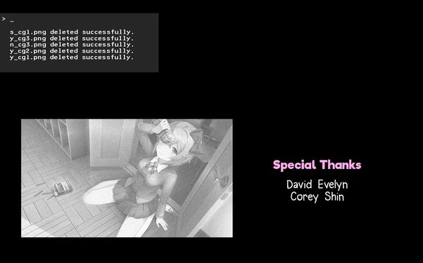 在莫妮卡的歌聲中,CG一張一張被刪除...