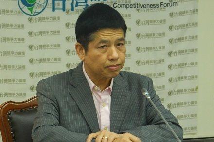 台灣競爭力論壇理事長龐建國表示,兩岸統一只是時間問題。(photo by譚有勝/...