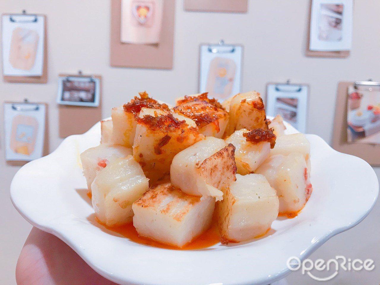 ▲▼「許留山台灣一號店」更推出了輕食系列,有港式蘿蔔糕、韓式炸雞等。