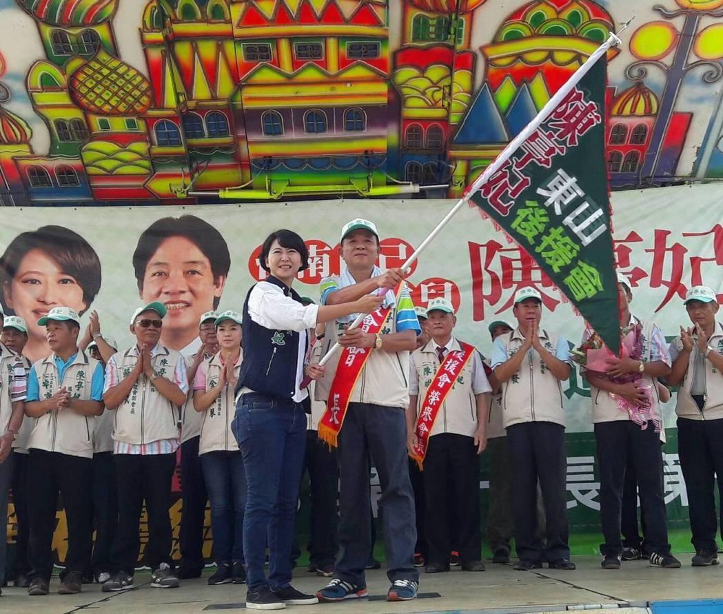 立委陳亭妃爭取民進黨內下屆台南市長提名。圖/陳亭妃服務處提供