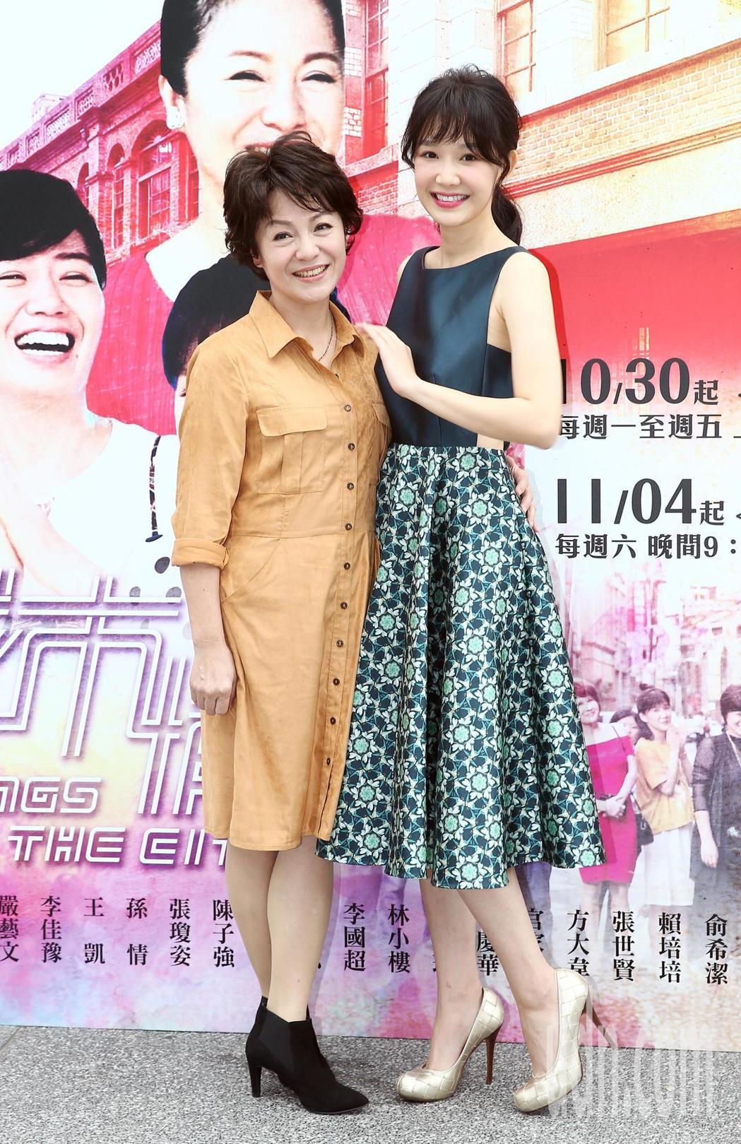 《城市情歌》主要演員潘麗麗(左)與李佳豫(右)。記者杜建重/攝影