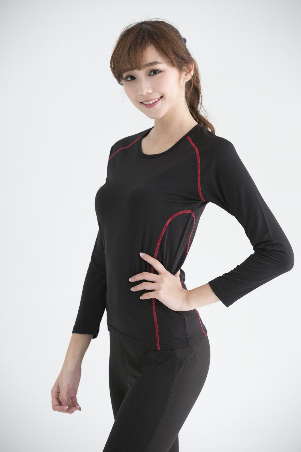 萊爾富推出裏刷毛運動保暖衣。圖/萊爾富提供